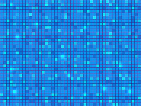 Blue pixel mosaic background. Abstract pattern. Illustration