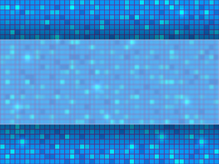 Red pixel mosaic background with place for your text. Vector illustration.