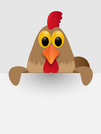 Rooster with place for you text. Vector illustration.