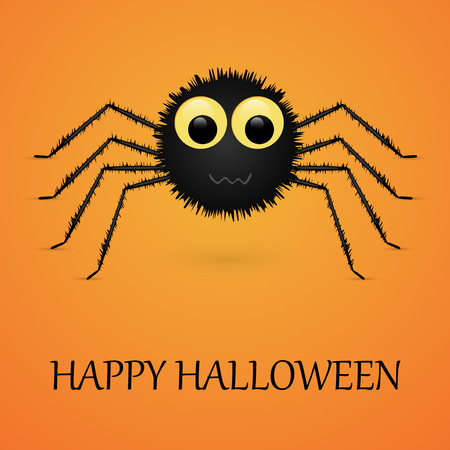 Happy Halloween spider. Vector illustration. Illustration