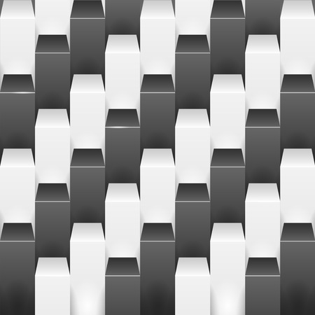 shifting: Abstract background with white and black boxes. Vector illustration.