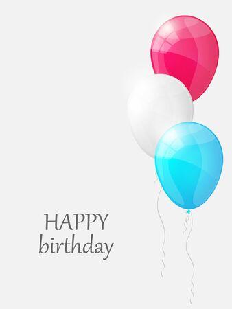 Happy birthday background with balloons. Vector illustration. Illustration