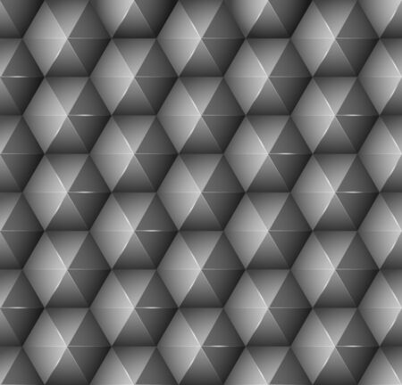 shifting: Abstract background with black hexagons. Vector illustration.