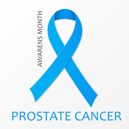 urologist: World Prostate Cancer Day poster. Blue ribbon. illustration. Illustration