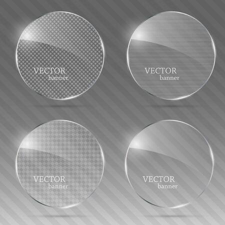 Glass template set. Illustration