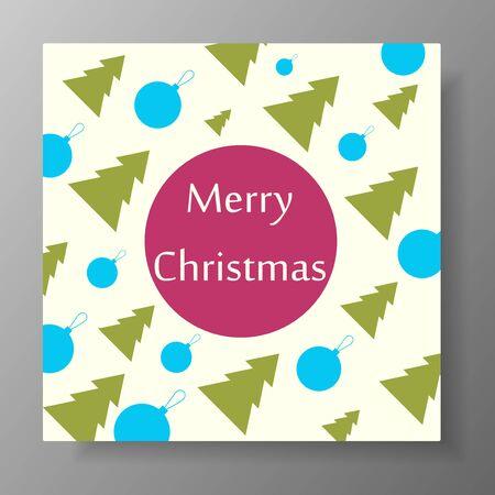 Christmas design with christmas tree and balls. illustration. Illustration