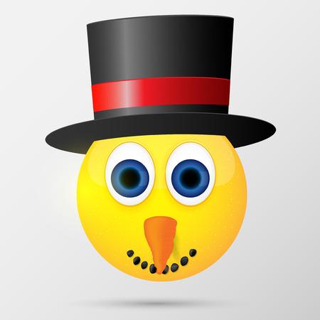 Snowman emoticon, emoji, smiley