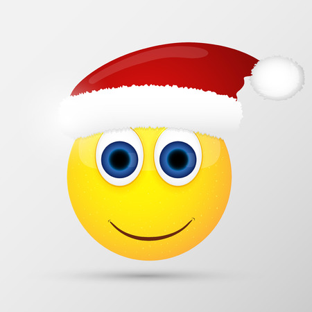 Santa emoticon, emoji, smiley