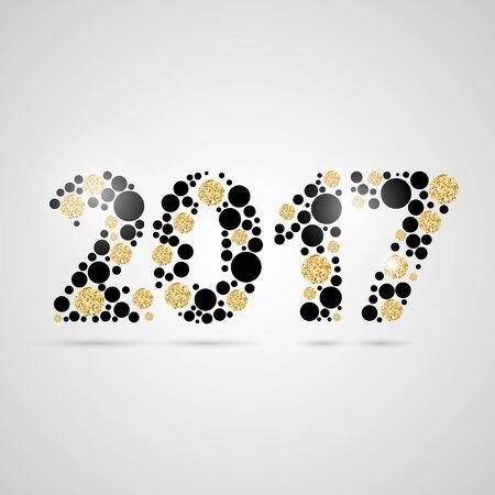 Happy new year 2017 design.