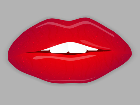 Open Mouth with red lips.