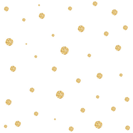 glittery: Background with gold glittering circles . Vector illustration. Illustration