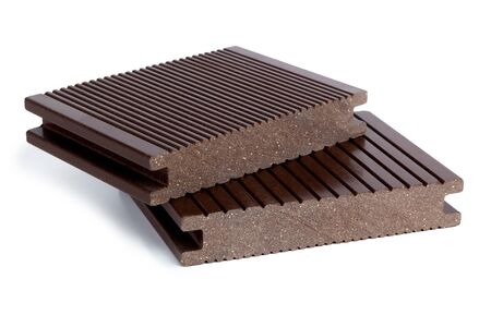 wood-plastic composites material for the construction of terraces 免版税图像