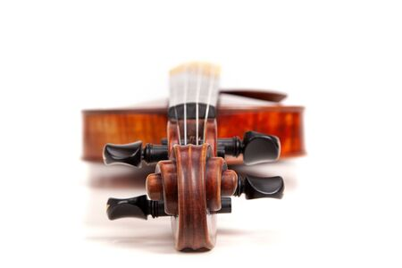 Violin isolated on white background Banco de Imagens
