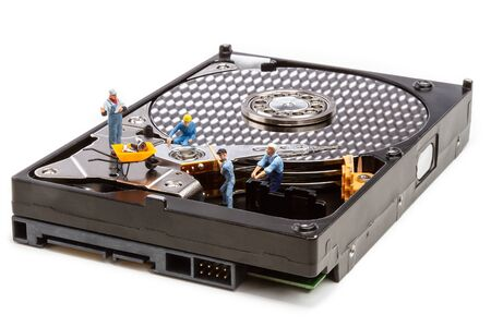 Miniature - repair and HDD drive recovery Banco de Imagens