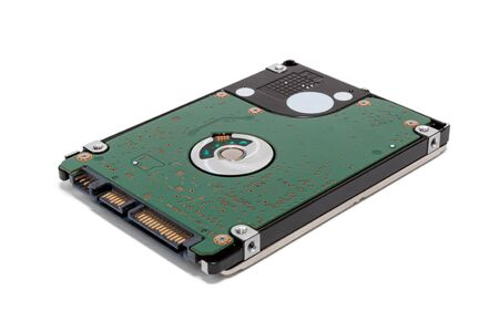 HDD disk 2.5 isolated on white background Banco de Imagens