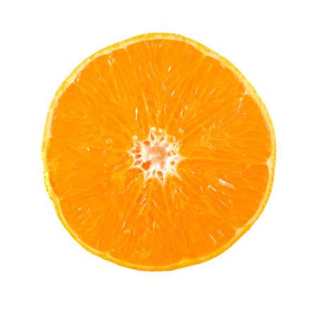 sweet segments: Isolated orange on white background