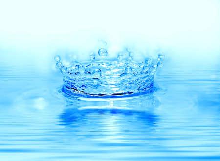 Frozen water drop. photo