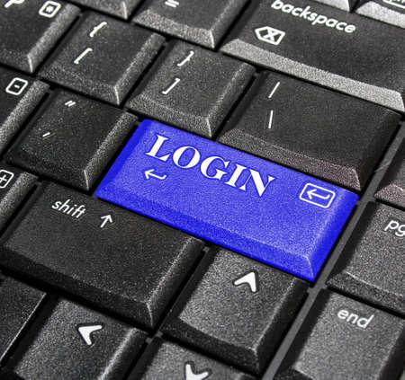 login button: Login button.