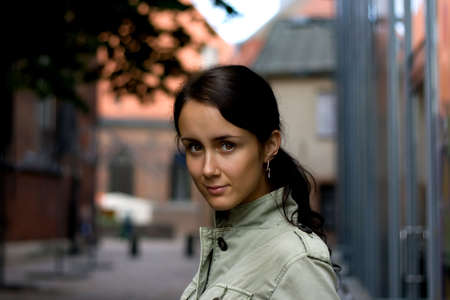Young woman with beautiful eyes. photo