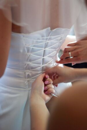 existence: Ceremony of clothing of the bride Stock Photo