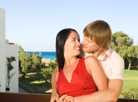 Happy young couple Stock Photo - 4240038