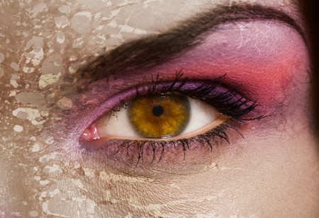 Zombie eye Stock Photo