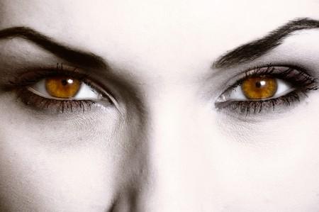 satanist: Close up of evil look