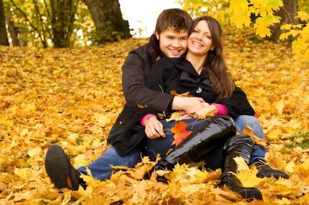 cute braces: Happy couple outdoors