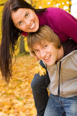 Happy couple outdoors Stock Photo - 4281989