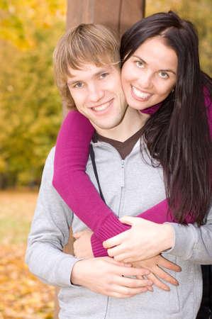 Happy couple outdoors Stock Photo - 4282069