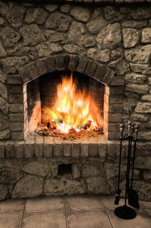The fireplace photo