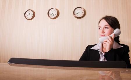 hotel reception: Hotel-Empfang
