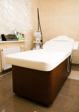 Interior of a room for massage photo