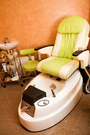 Interior of a room for pedicure photo