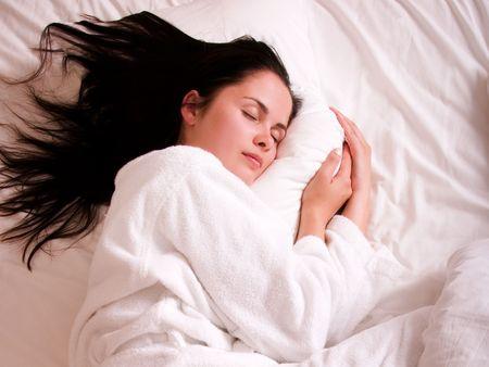 Beautiful young woman sleeping Stock Photo - 5836260