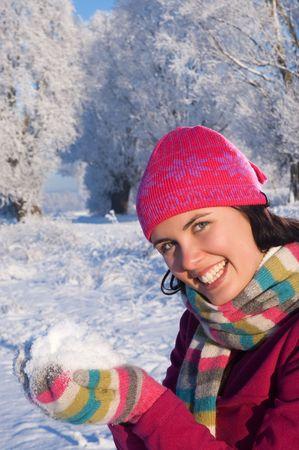 Beautiful young woman outdoor Stock Photo - 5836216