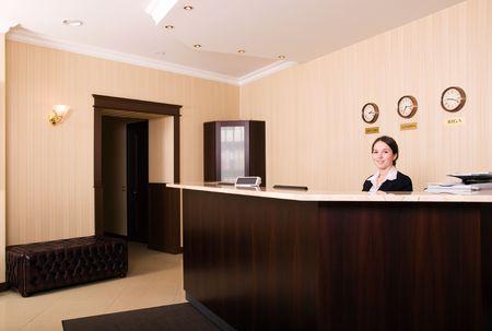 recepcionista: Recepci�n Hotel  Foto de archivo