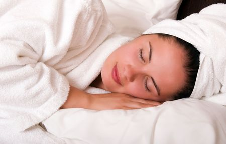 Beautiful young woman sleeping Stock Photo - 5908651