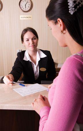 hotel reception: Hotelrezeption