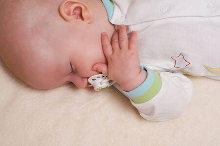 Peaceful sleeping beautiful baby  Stock Photo - 7500396
