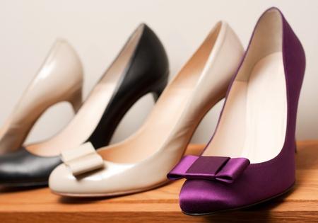 Zapatos en la tienda (dof superficial)