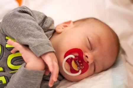 Cute  sleeping baby portrait Stock Photo - 13637348