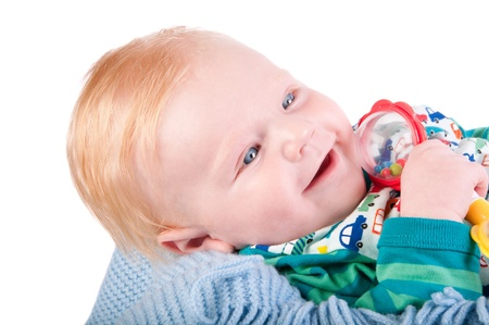 Cute Baby boy's portrait with bauble Stock Photo - 15654162
