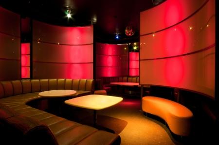 Foto del interior del club nocturno Foto de archivo