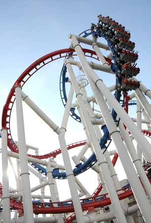 with loops: The loops of a scaring roller coaster.