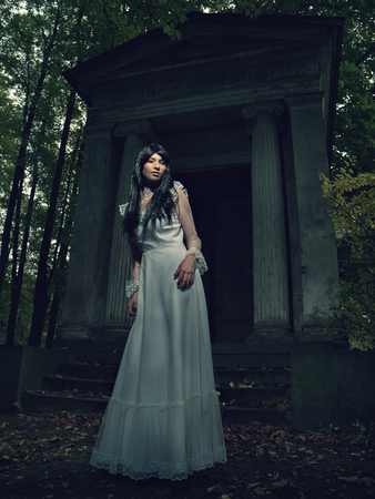 witchery: Witch from a crypt in the cemetery