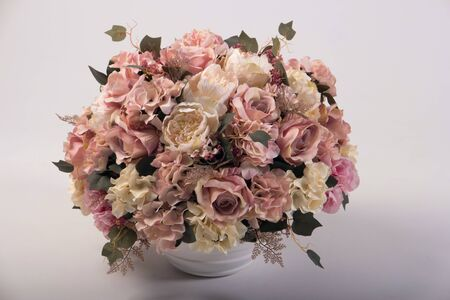artificial flowers: Artificial flowers bouquet in the vase