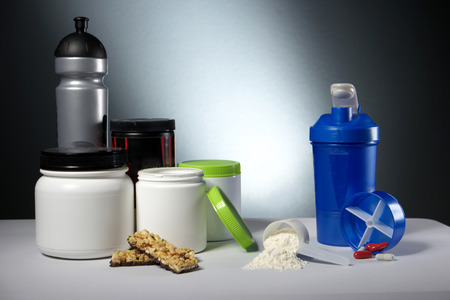 supplement: Workout Sport Nutrition Supplement containers
