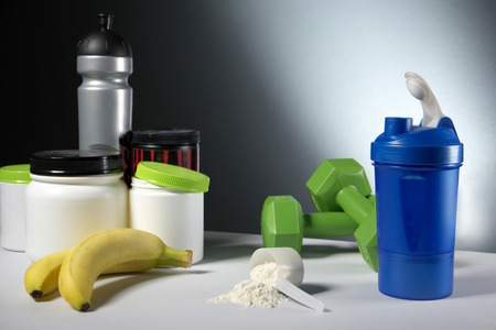 casein: Workout Sport Nutrition Supplement containers