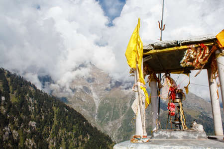 hinduist: hinduist shiva monument in himalayan mountains in india Stock Photo
